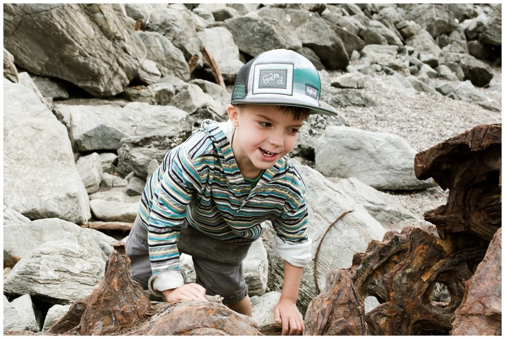 "Exploring in Bodega Bay! Most of our free time once the weather warms up is spent camping and exploring! The kiddos love being outside on adventures! Declan prefers to hunt for shells and not ""creatures"" but he did crab hunt a little last year."