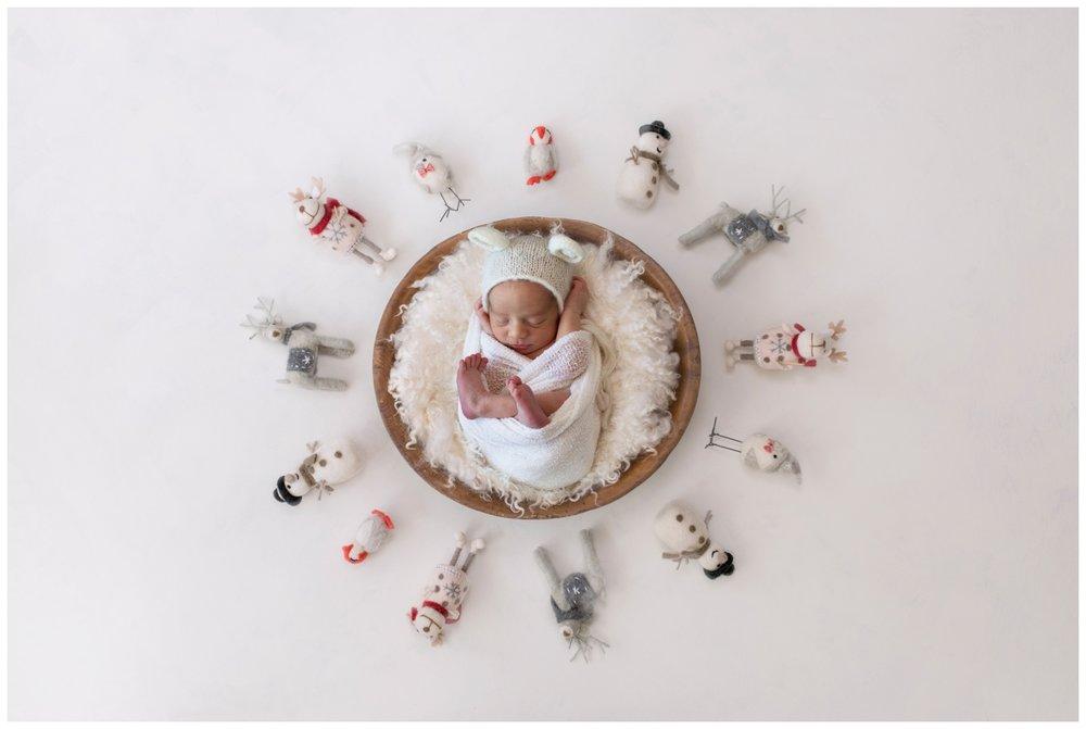 newborn august composite snowman kristi Gayton photography