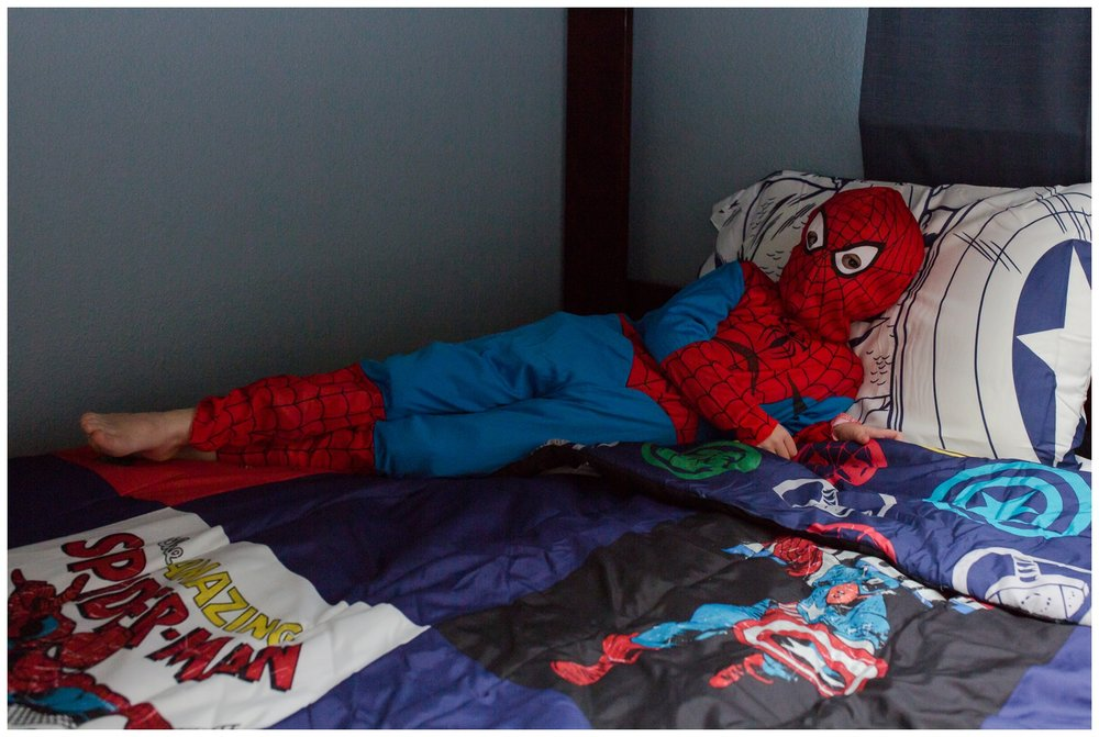 Even Spiderman has to kick back and relax once in awhile