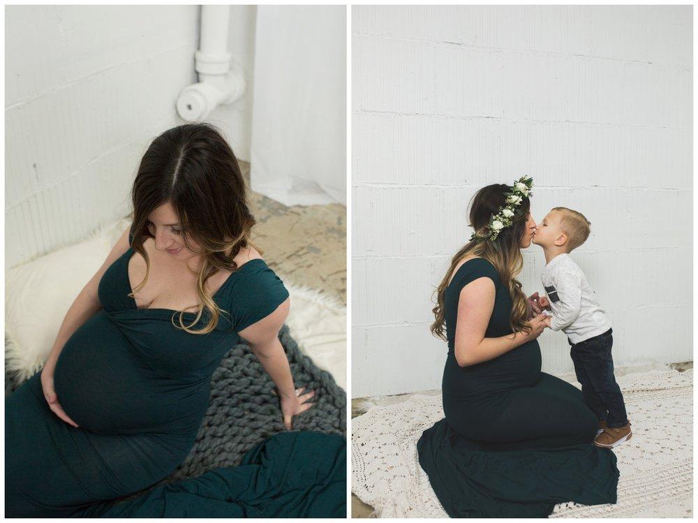 In studio reno maternity photographer location