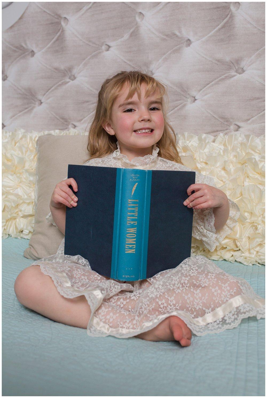 little women book photo session