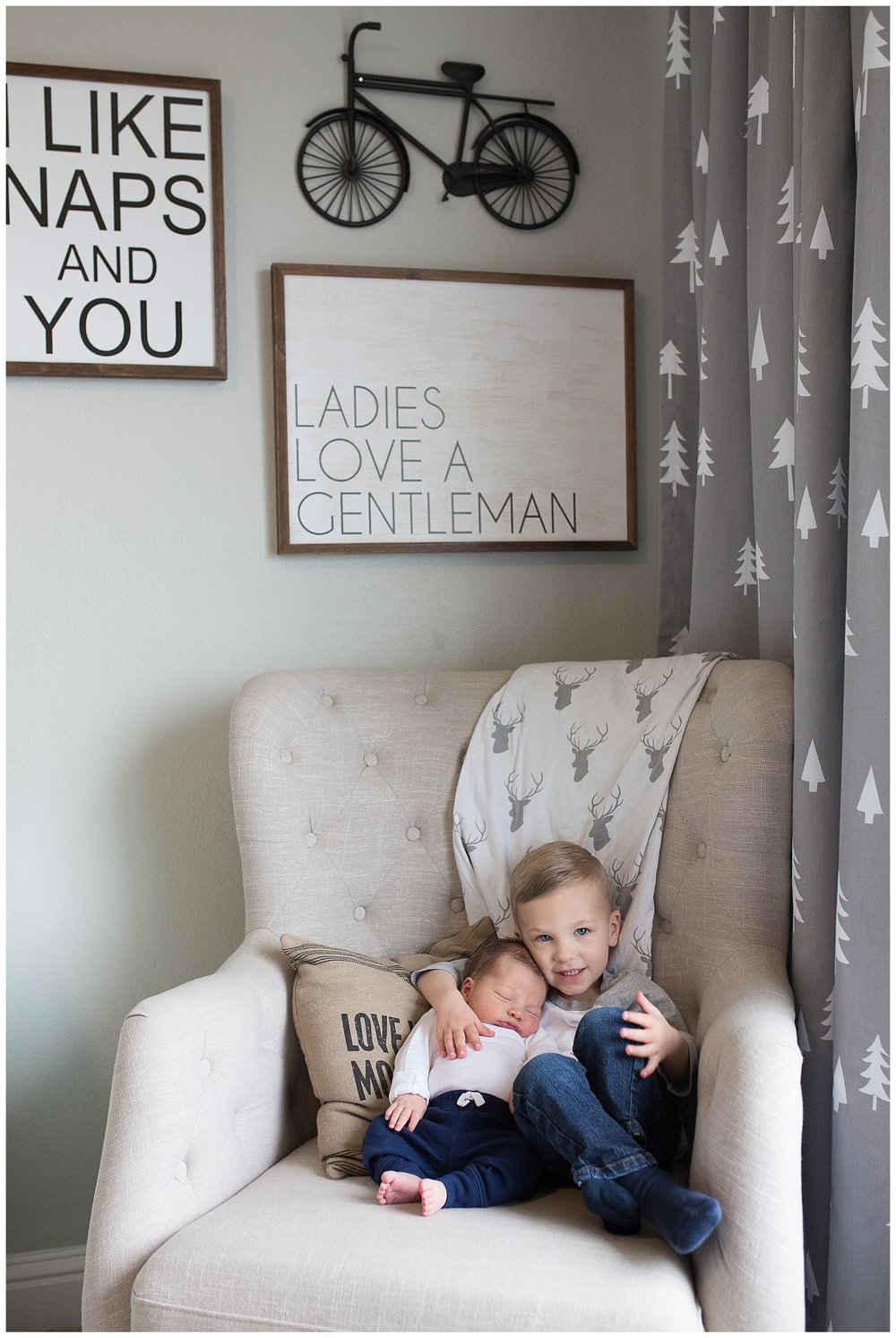 boys room newborn brothers