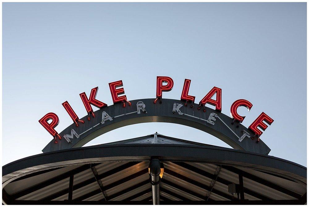 pikes market sign Seattle Washington