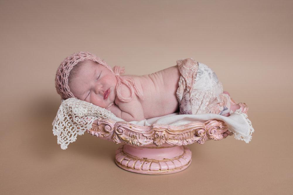 Carly pink newborn session reno newborn photographer kristi gayton photography