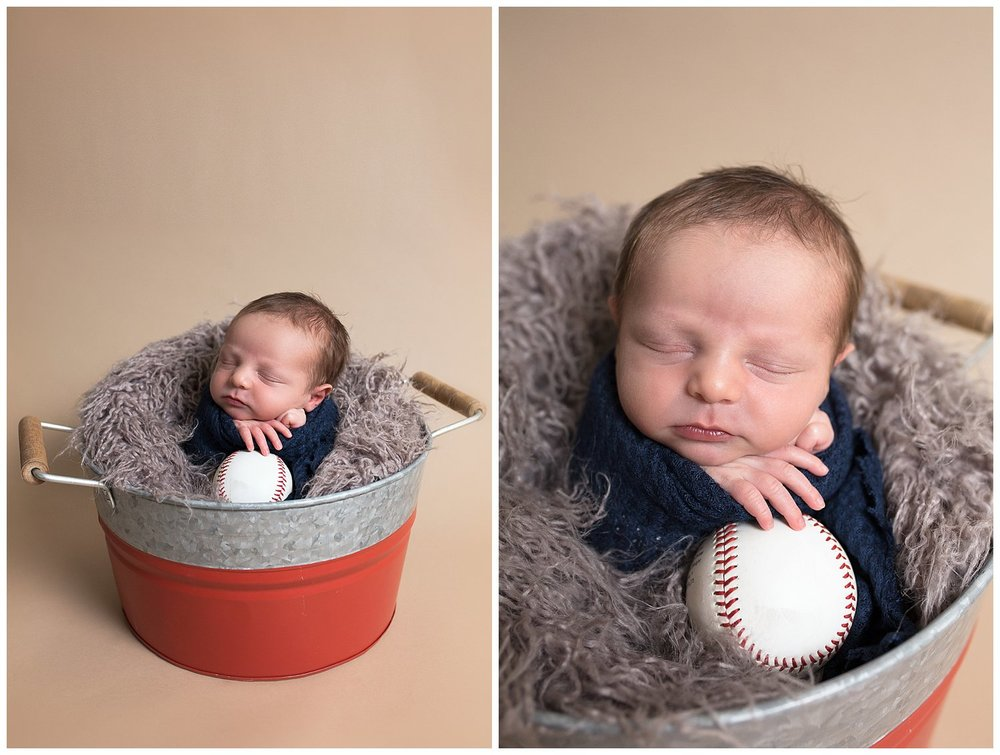 newbornbucketposenewbornwithbaseball