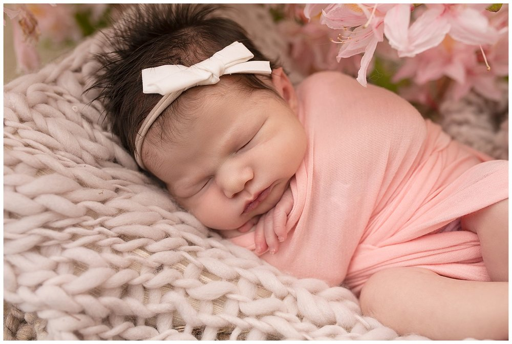 reno newborn session baby girl coral .jpg