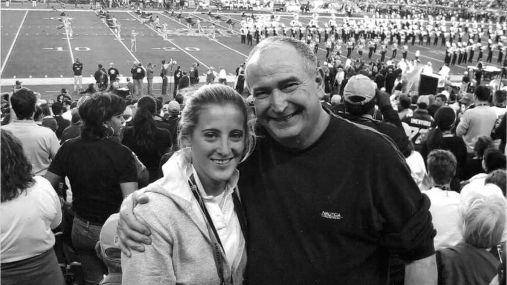 Sam Rapoport, Director of Football Development with her father