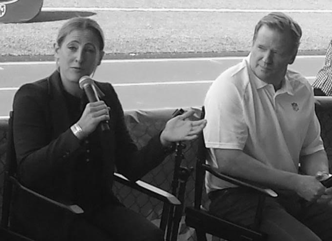 Director Rapoport alongside Commissioner Goodell