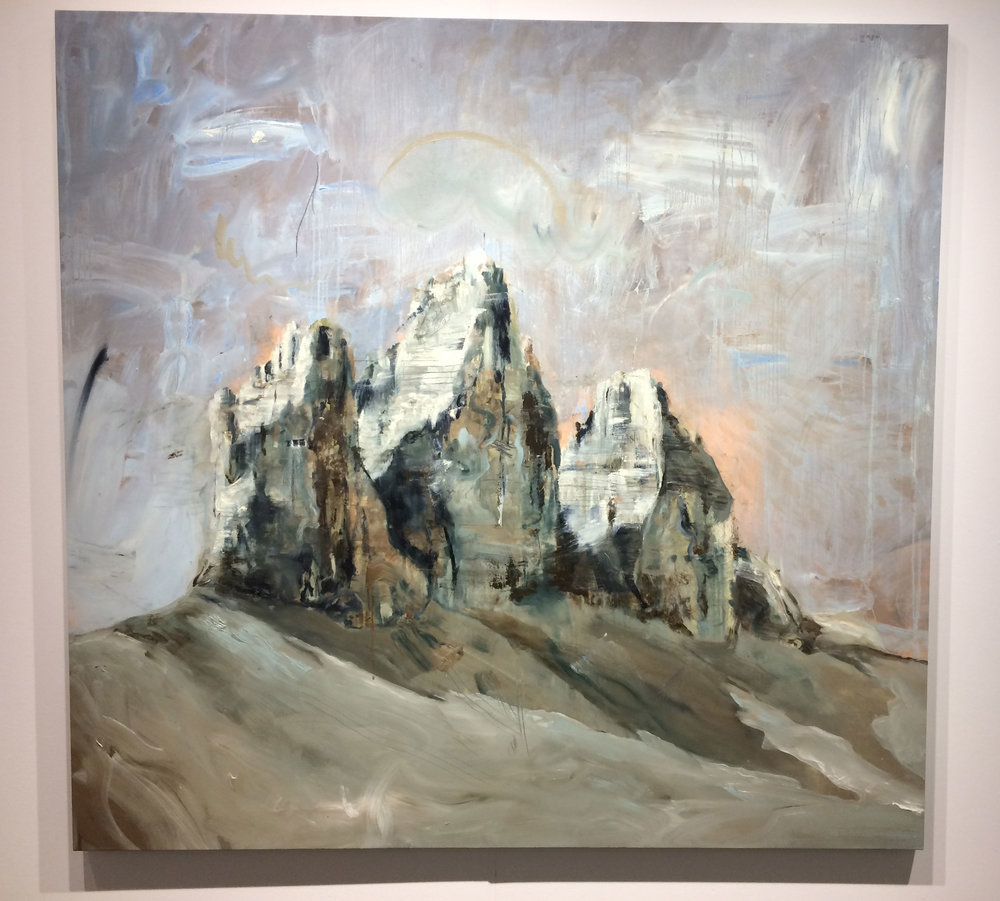 Philip Mueller,  Dolomitti #2 , 2017, Oil on canvas, Carbon 12, Dubai, UAE