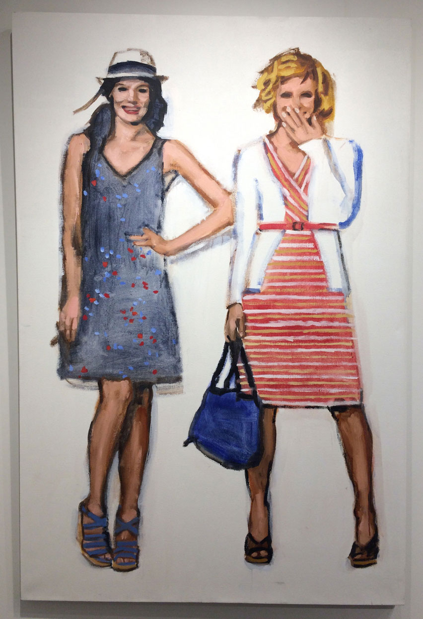 Walter Robinson, Target Dresses Cardis and Wedge Sandals, 2013, Acrylic on linen,