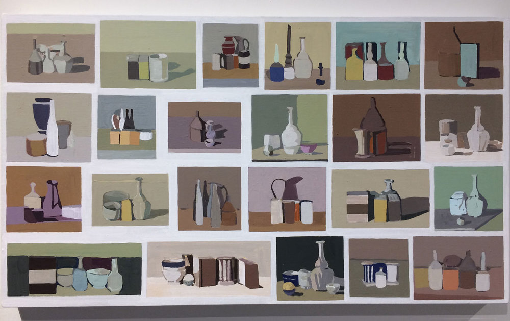 Fuminao Suenaga,  Search Results – Giorgio Morandi,  2017, Acrylic, pigment on cotton,   panel, Maki Fine Arts, Tokyo, JP