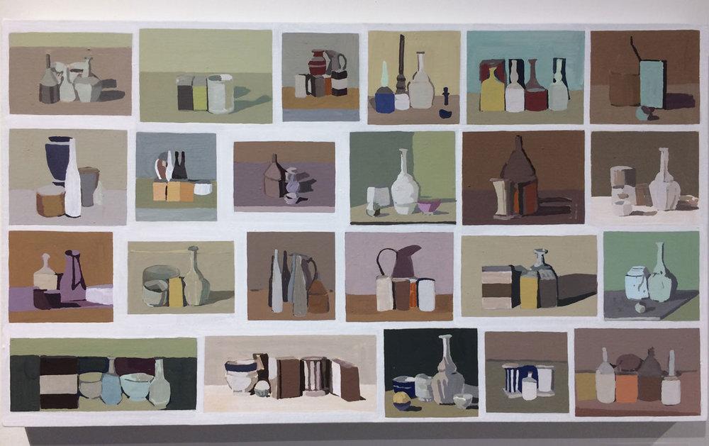 Fuminao Suenaga, Search Results –Giorgio Morandi, 2017,Acrylic,pigment on cotton,  panel,Maki Fine Arts,Tokyo,JP