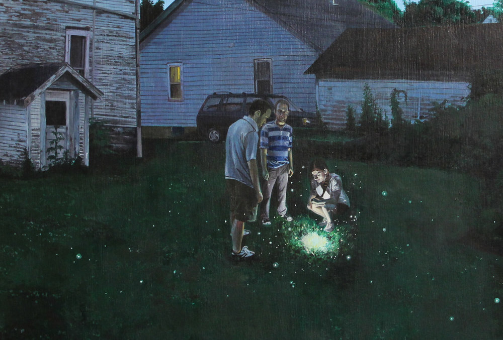 Nate Burbeck, Fairmont, Minnesota, 2015, Oil on canvas, grayDuck Gallery, Austin, TX
