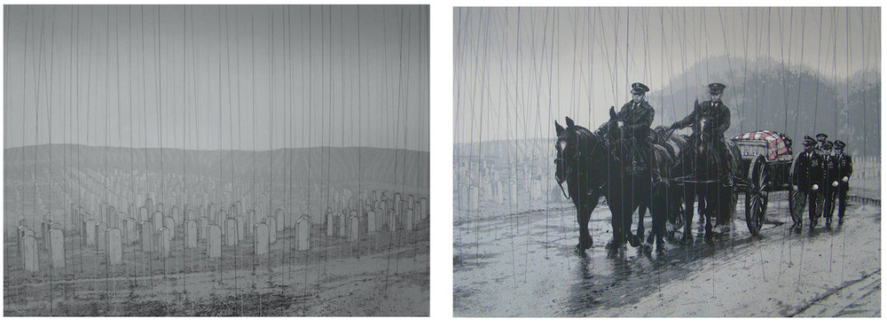 Vincent Valdez, Winter in America (diptych), 2015, 10-color serigraph, David Shelton Gallery, Houston, TX