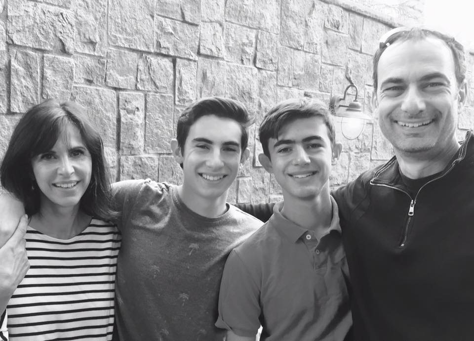 Linda with her husband, Felix and their sons.
