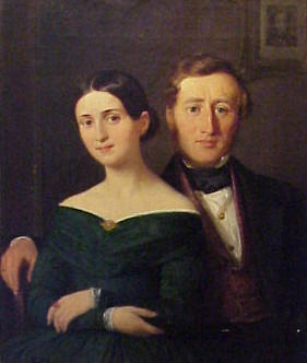 Edvard Collin and wife.  Image from VisitHCAndersen.dk