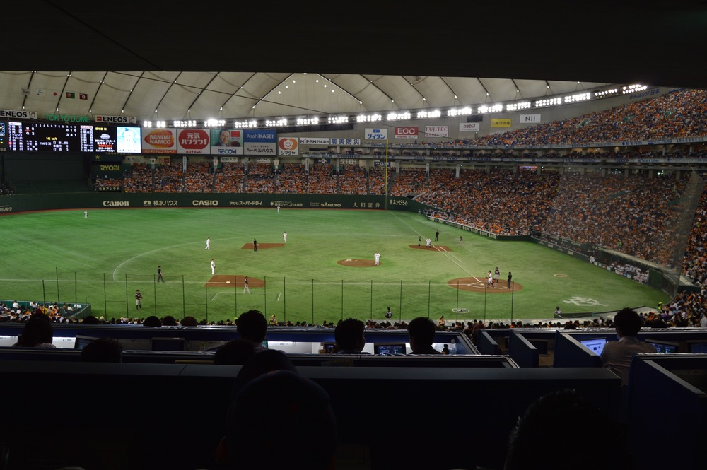 Scenes from the Tokyo Dome on June 19, 2016, as the visiting Chiba Lotte Marines took on the home town Tokyo Yomiuri Giants.