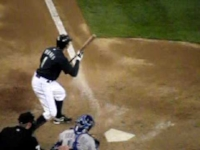 The only image I could find has a delightful Zapruder Film quality to it. ( Image copyright MLB )