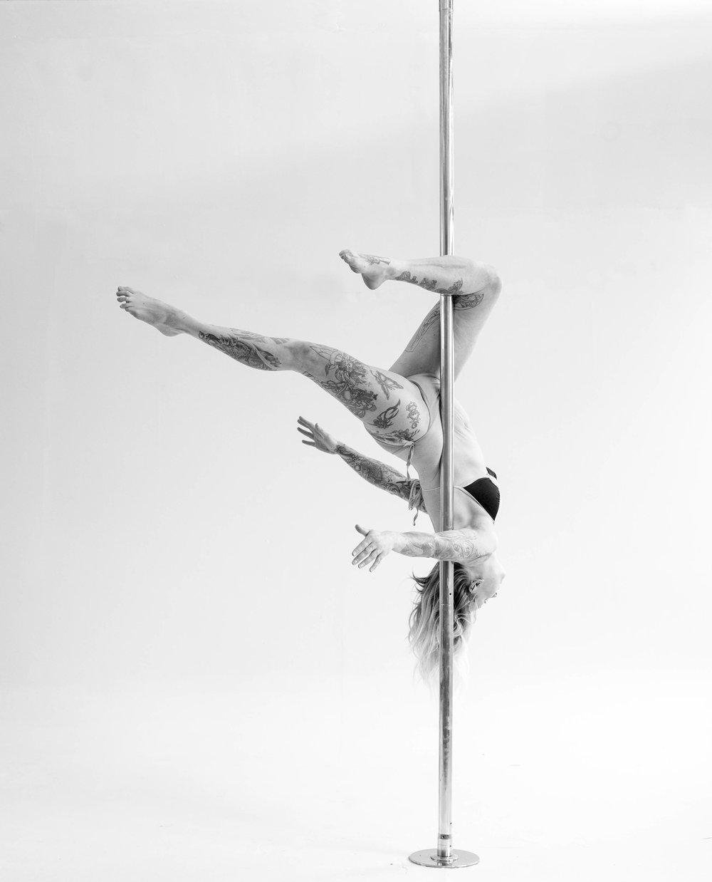 Lauren, balletic pole and aerial dancer, Stockport UK.