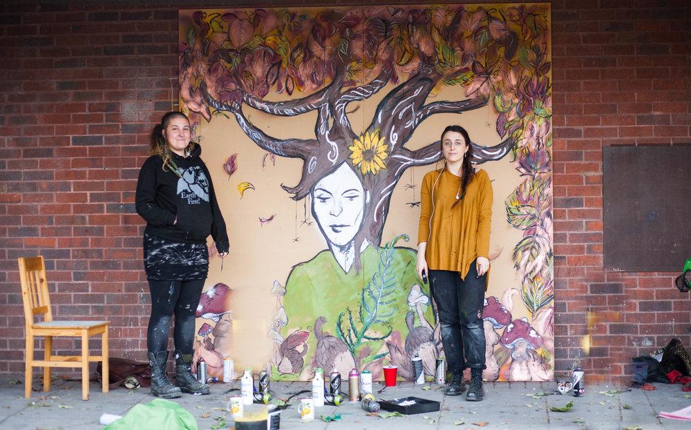 Garston UK, art studio mural.
