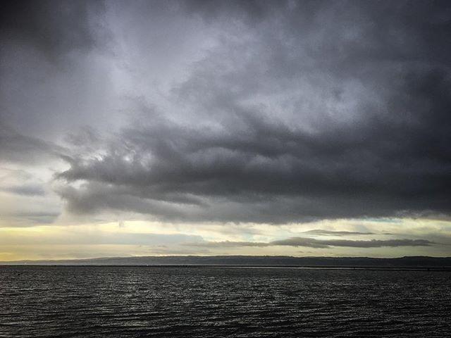 Cumulus nimbus floats by.  #iphonese #wirral #clouds #westkirby #riverdee #walescoast