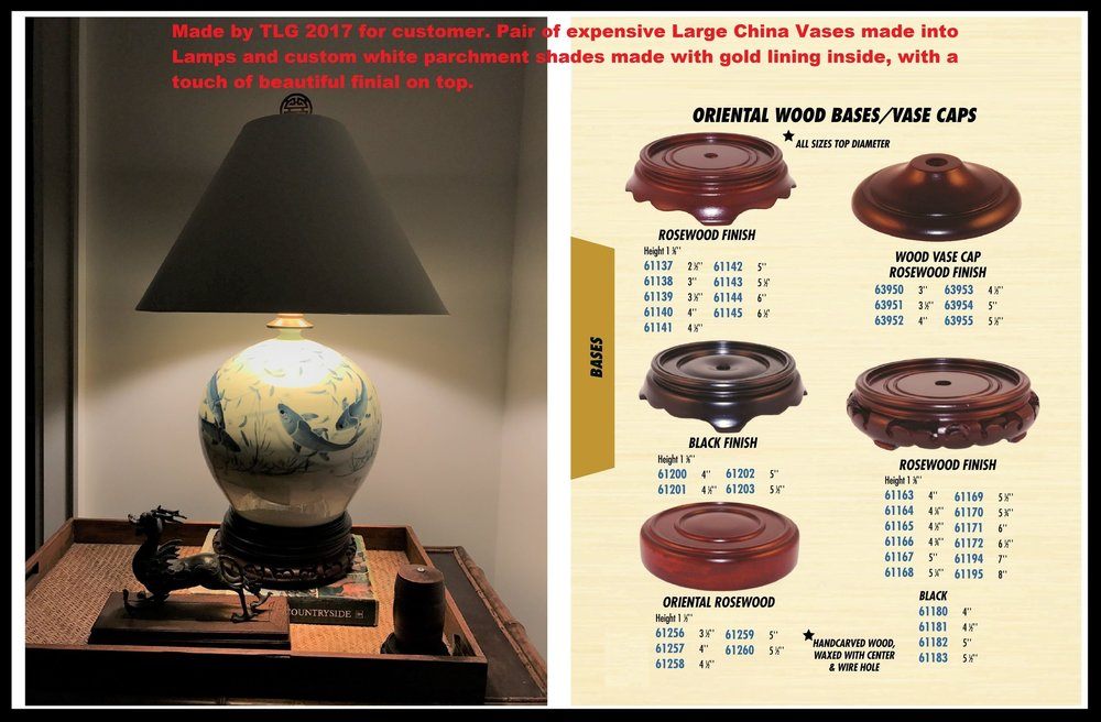 TABLE LAMP BASES – CUSTOMIZE YOUR FAVORITE HEIRLOOM Today!