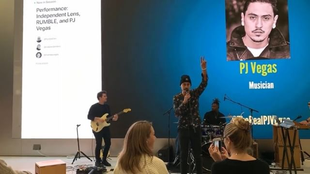 Had a great time at yesterday's performance for #todayatapple made a lot of new friends and gave a sneak preview of some unreleased music exclusively for @apple 🔥🎯 thanks to @independentlens and @pbs for providing the platform #NativeStateOfMind #PJVegas #yoeme #indigenous #youshouldcometomyshow #unionsquaresf #bayarea @itvsindies