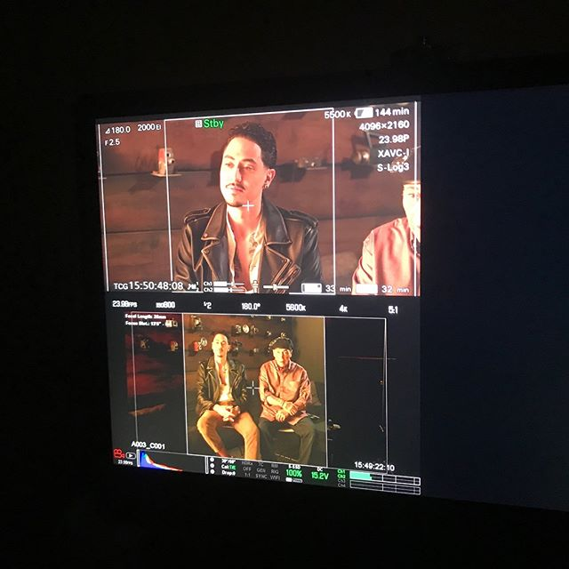 Had a great time today shooting a promo video for RUMBLE the Indians who rocked the world 🌎 with @itvsindies and @independentlens lookout for a January release on @pbs 😁✌🏽 #NativeStateOfMind #Rumble #PJVegas #Redbone #comeandgetyourlove #indigenous #nativemusic #niken7