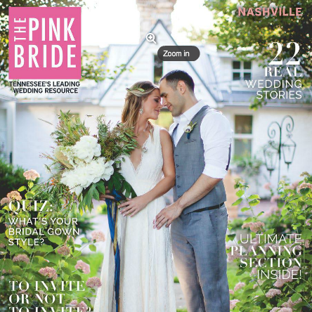 The Wedding of Jeremy & Helen - pink bride cover & feature articleA summer garden fantasy, this design was our concept and visual playground captured by Wynd Paisley Photography. We provided the design concept, planning, coordination, event coordination, rentals, attire selection, setup and event production.