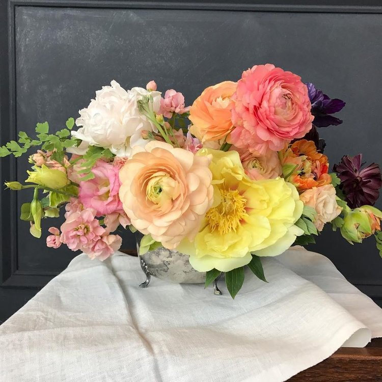 Flower Deliveries - THE SWEETEST SENTIMENT or room brightenerOur artful arrangements of lush seasonal blooms carefully delivered in a modern ceramic vessel with a hand-written note. Choose a budget of your own. Perfect for brightening a desk or table or making a statement. Colors and flower varieties vary by season.