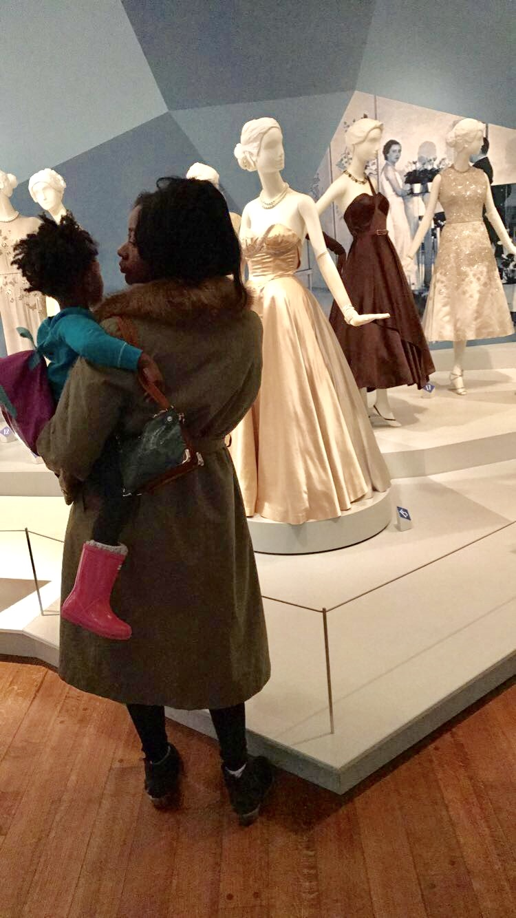 Me and my mini, Gia, taking in all of the vintage beauty  .....it was def a great museum day!