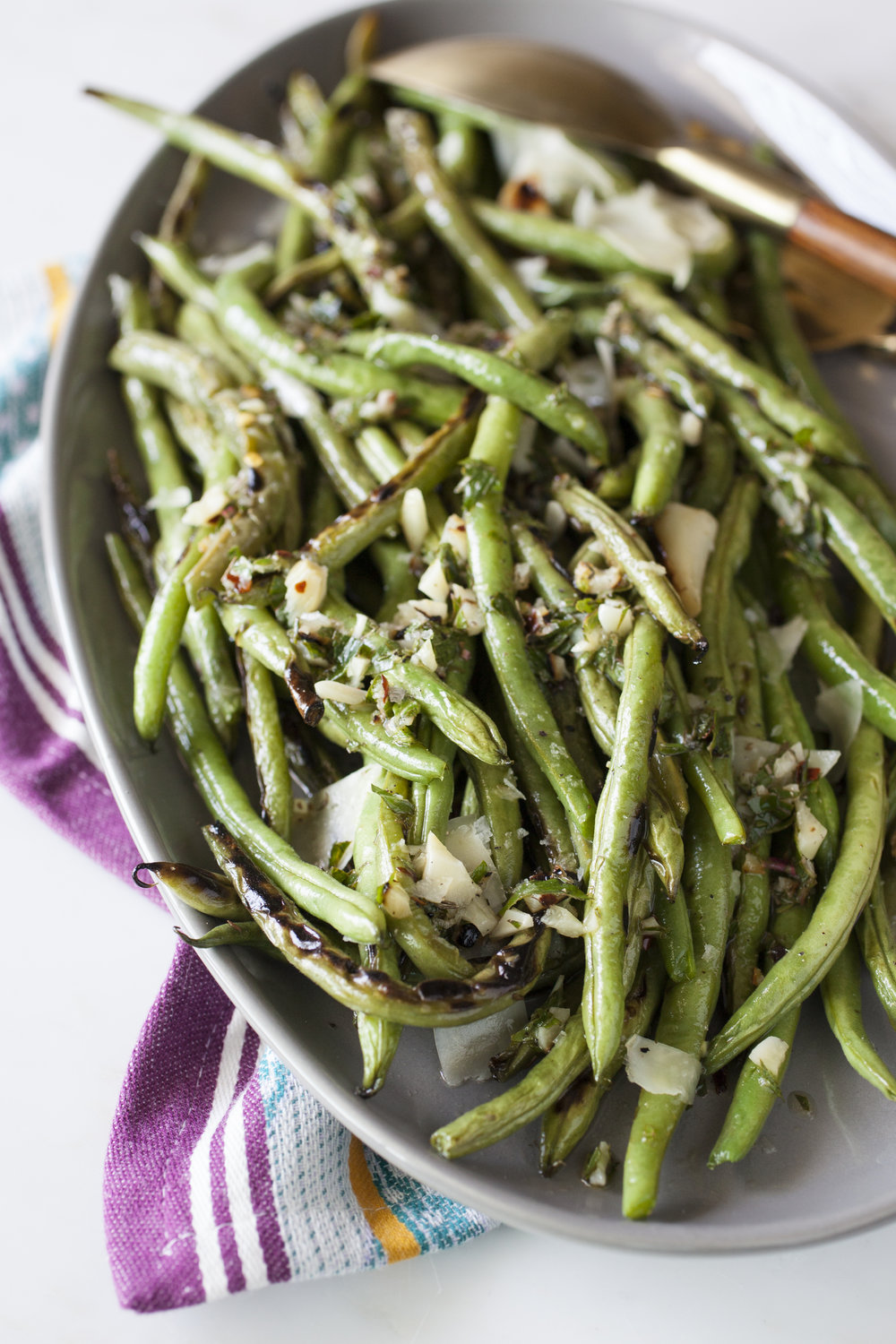 Grilled Green Beans with Lemon Dressing - miracle gro