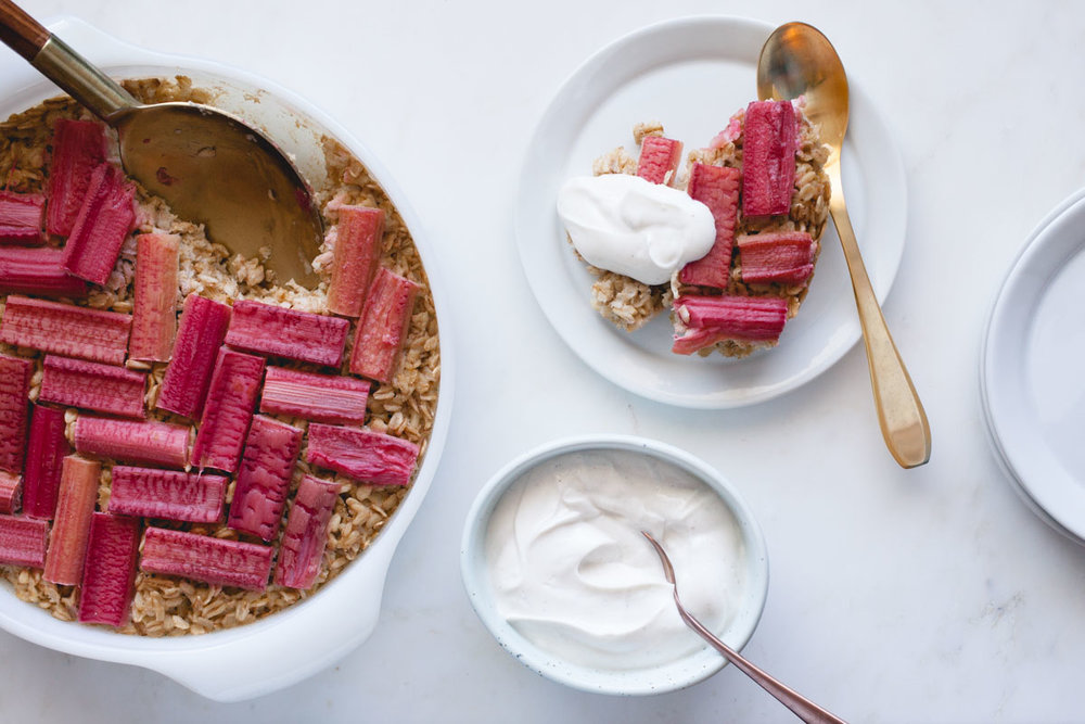 Rhubarb Baked Oatmeal - of the dirtFeatured BY: Icelandic Provisions