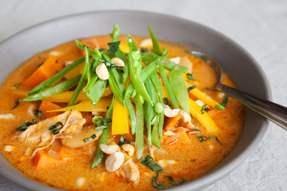 Sweet Potato and Thai Curry Soup - OF the dirt