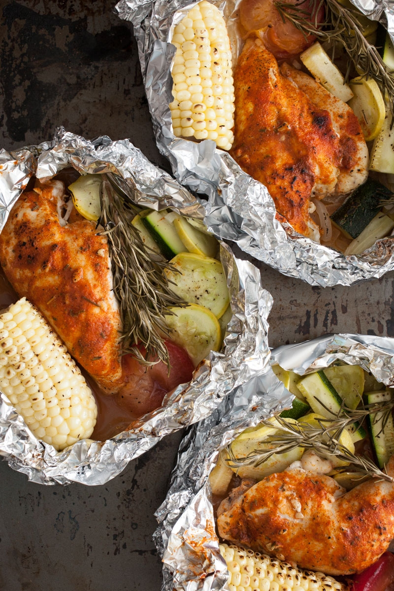 Foil Dinners with Chicken, Vegetables, and Lager - Miracle gro