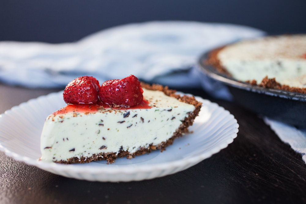 Basil-Chip Ice Cream Pie - Of the dirt