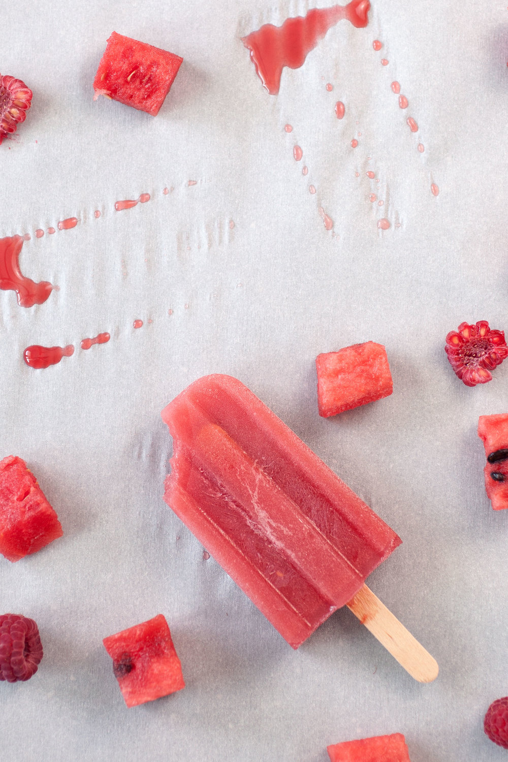 Watermelon Raspberry Popsicles - of the dirt