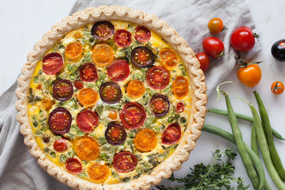Tomato & Snap Bean Quiche - bonnie plants - Fast & Fresh