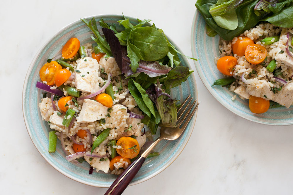 Summer Chicken and Rice - bonnie plants - Fast & Fresh