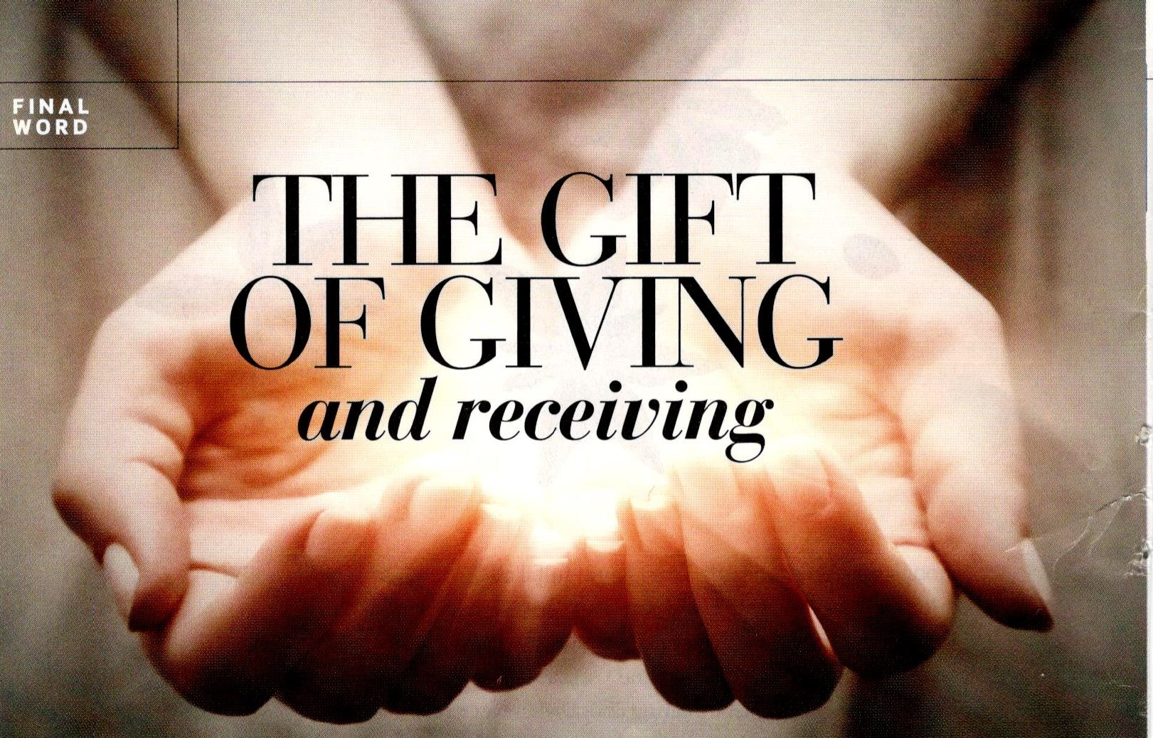 The Gift of Giving (and receiving) | Mind + Body | December 2016 ...