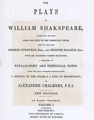 William Shakespeare, 1847