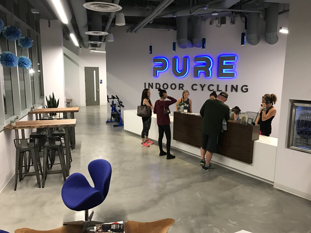 Pure Indoor Cycling Studio Glitz And Glam By Tiff Blog