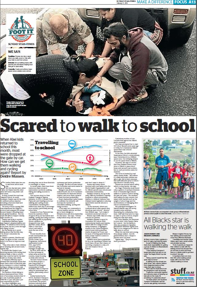 Journalism made the case for speed limits around schools.