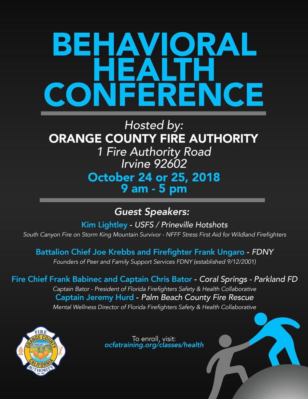 Behavioral Health Conference Flyer