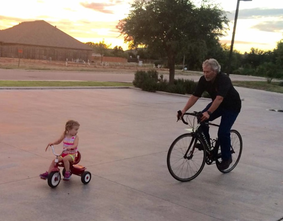 cycling with Landry