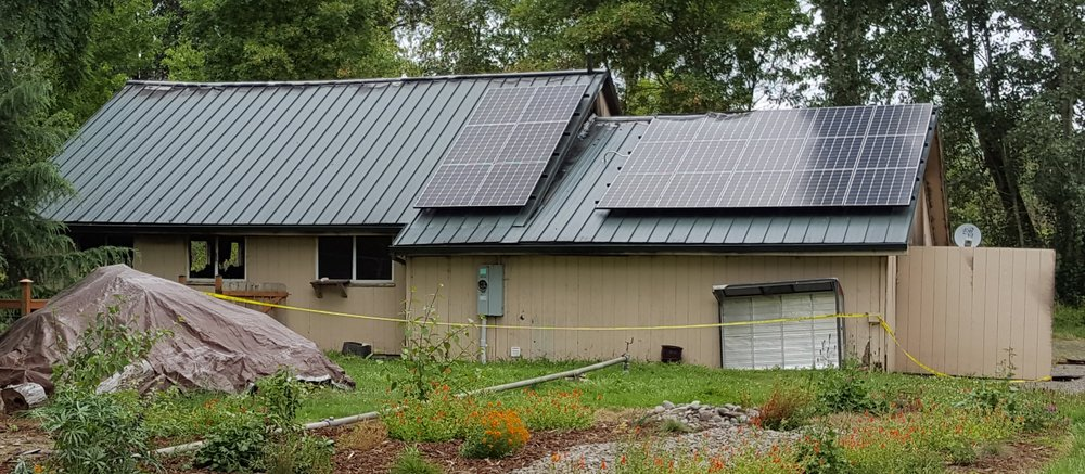 July, 2016:  Home destroyed by fire.  Solar panels were  reapplied in 2018.