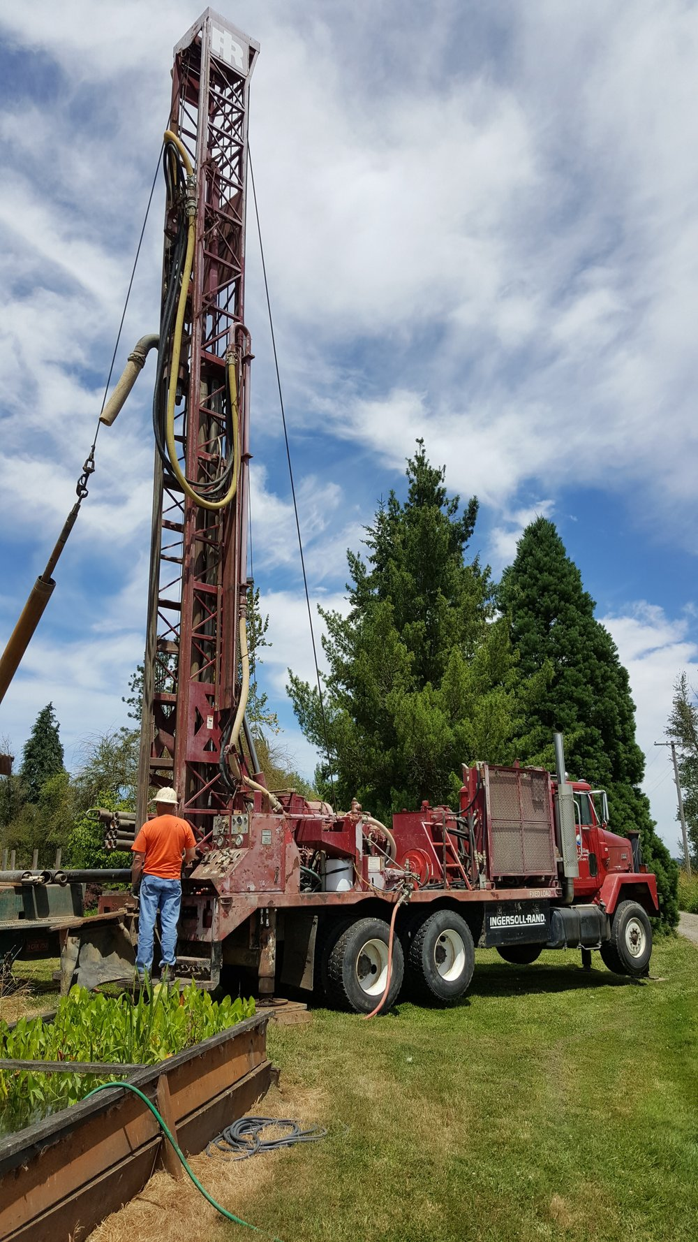 2016, installing new well.