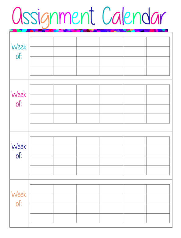 online school assignment calendar The student assignment planner template for excel is a convenient template that can help you keep an organized schedule in school.