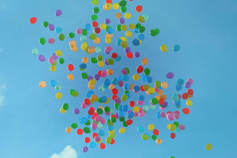 Blogiversary - Balloons