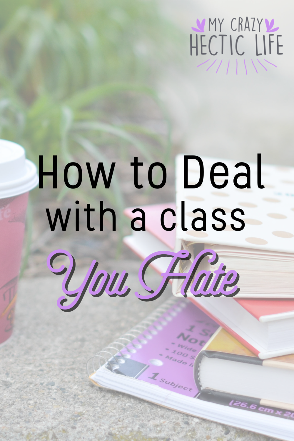 What to do When you HATE a Class - Pin